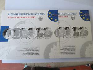 ALLEMAGNE - GERMANY - DEUTSCHLAND  Coffret  2010  6 x 10 Euro BE