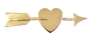 Heart Pierced By An Arrow Nickel-Plated Symbol For Orange Order Collarette