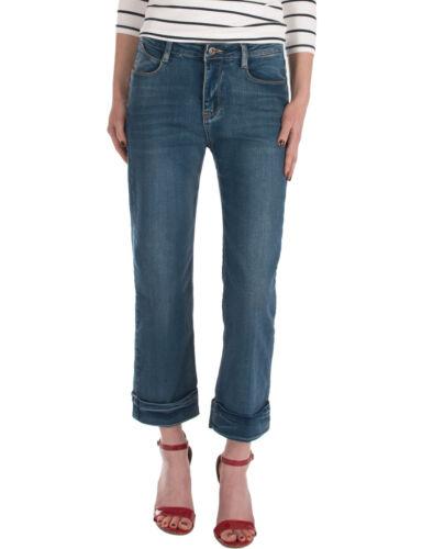 Damen Jeans Hosen 7//8 normaler Bund Damenjeans gerades kurzes Bein blau Neu