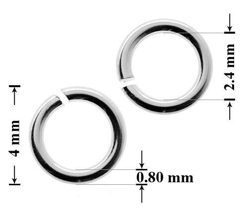 Sterling Silber Öffnen Springen Ring Steckverbinder viel Größen Schmuckteile