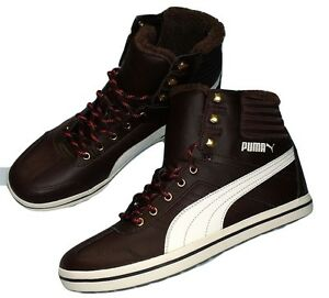 PUMA-Tatau-Sneaker-Bot-High-Top-Sneaker-warm-Braun-chocolate-brown-Leder