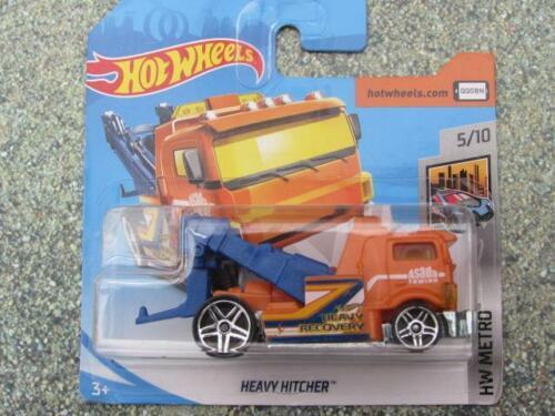 Hot Wheels 2019 #129//250 HEAVY HITCHER orange tow truck New casting 2019 @F