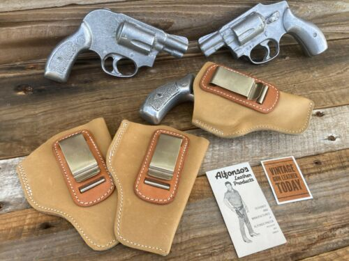 """Alfonso/'s Tan Leather IWB Holster For S/&W Model 36 Chief Special 2/"""" 640 638"""