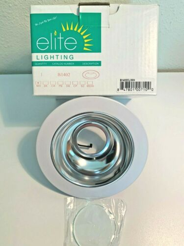 "Clear Reflector//White Trim Elite Lighting B1402CL-WH 4/"" Reflector Trim"