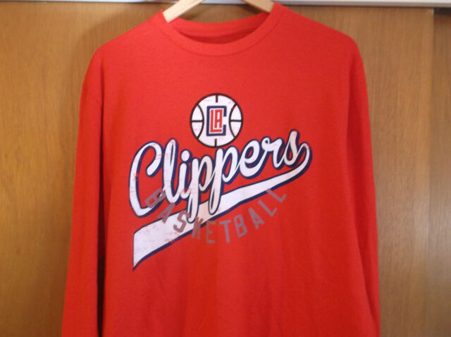 0fff05c93e0 NBA LA Clippers Basketball Long Sleeve Red Shirt Size Large New With Tags  100%