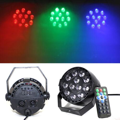 RGB LED PAR Scheinwerfer Flickerfreie Projektion Statische Farben Mini 12x 3in1