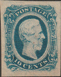 Confederate CSA #12KB Ten Cent Stamp