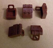 Lego 5 Rucksäcke Tornister Behälter braun zb für Star Wars Figuren Rucksack Neu