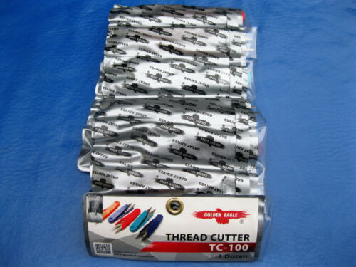 NEW 12 PCS SEWING THREAD NIPPERS   CLIPPERS TRIMMING SCISSORS WITH POUCH