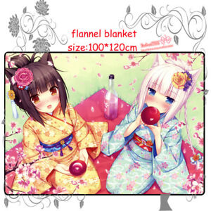 Anime-NEKOPARA-Chocolat-Vanilla-Flannel-Plush-Travel-Blanket-Christams-Gift-HHJ