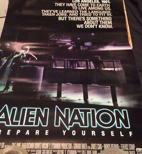 alien nation promo poster minor edge tear