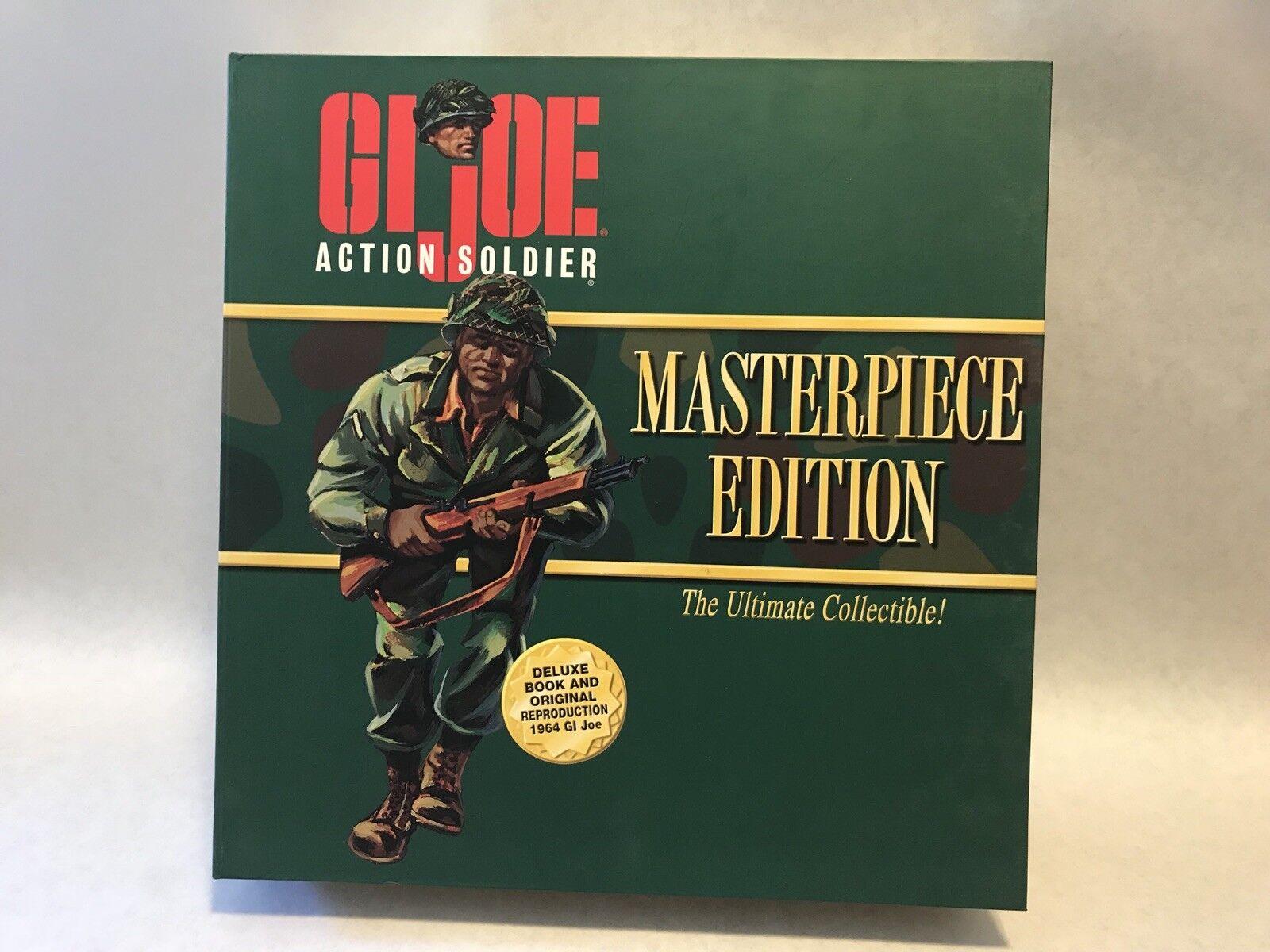 HASBRO GI JOE MASTERPIECE EDITION ACTION SOLDIER AFRICAN AMERICAN NM W  BOOK NIB