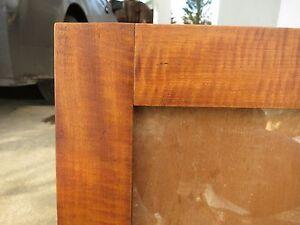 Capable C1830 Excellent American Tiger Maple Primitive Fraktur Sampler Folk Frame Linens & Textiles (pre-1930)