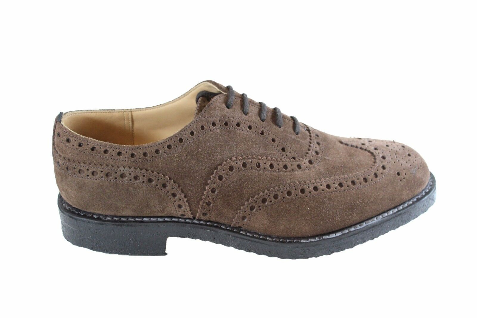 church's Fairfield Sigar Biber Veloursleder brogue stringata Leder Kalbfleisch