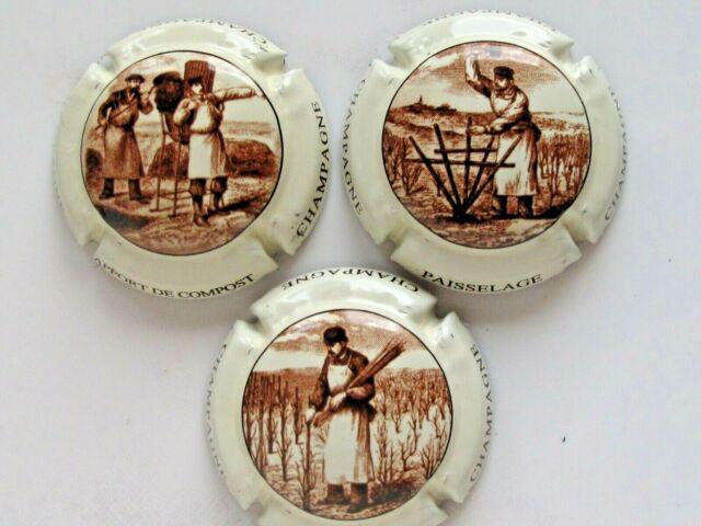 Série  de 6  capsules Champagne  générique  travaux de la vigne et champagne