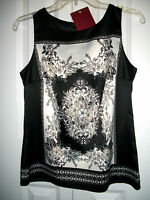 212 Collection Women's Size Xs Charmeuse Woven Sleeveless Top Blouse X-small
