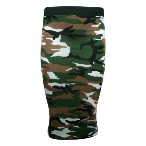 New Women/'s Camouflage Army Print Leggings,Vest Top /& Cap Sleeve Midi Size SM ML