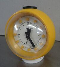 Mechanische kl. gelbe Ruhla Uhr dekorativer Kugel Wecker ball alarm clock  70er