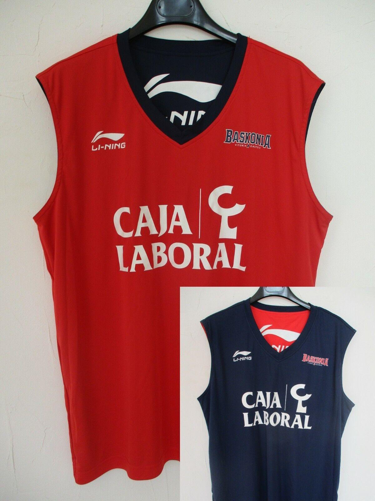 Maillot basket BASKONIA VITORIA GASTEIZ Li-Ning camiseta shirt XXL réversible