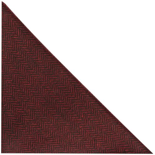 Cranberry Red /& Black Herringbone Pocket Square Handkerchief