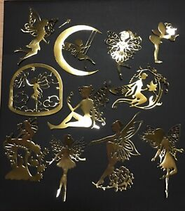 GOLD-TONE-MONSTROUS-LOT-FAIRIES-FAIRIES-amp-FAIRIES-DIE-CUT-CUTS-1-FAIRY