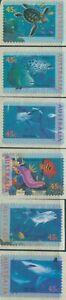 Australia-1995-SG1563-1568-Marine-Life-diecut-set-MNH