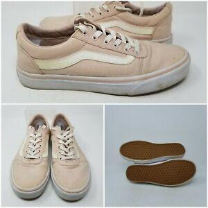 VANS Old Skool Beige Pink Low Skate Tennis Shoes Sneaker Women& ...