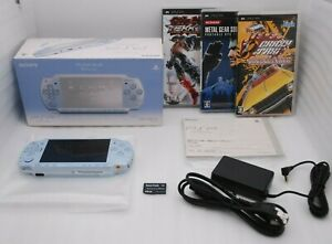 Near-Mint-Sony-PSP-2000-Console-FELICIA-BLUE-w-Box-Charger-amp-3Games-Japan