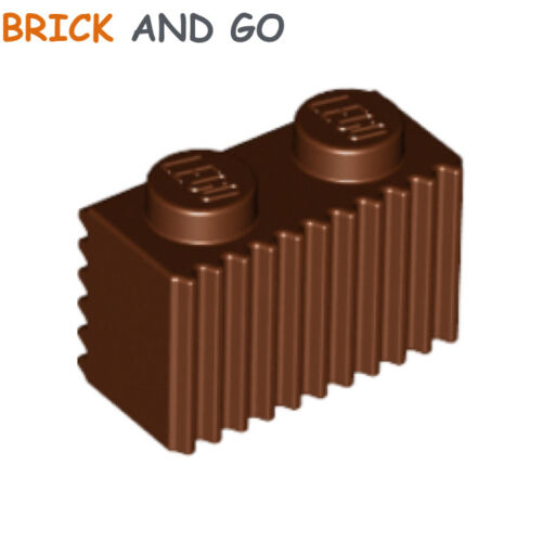 marron Wall Brick Modified 1x2 With Grille NEUF NEW 8 x LEGO 2877 Brique Mur
