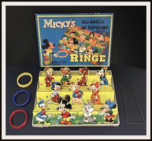 GLI-ANELLI-DI-TOPOLINO-gioco-in-scatola-MICKY-039-S-RINGE-039-50-60s-DISNEYANA-IT