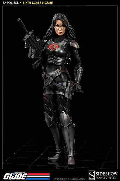 SIDESHOW GI JOE COBRA ASSASSIN BARONESS INTELIGENCE OFFICER 1 6 SCALE FIGURE NEW