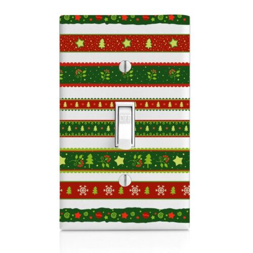 Christmas Wrap Wall Plate Rocker Toggle Outlet Decor Switch Plate Cover