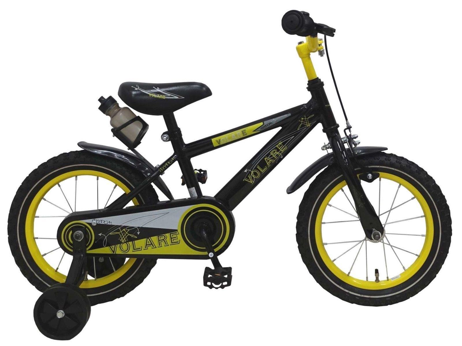 14 Zoll Fahrrad Rücktritt Stützräder Kinderfahrrad Jungen schwarz 81415