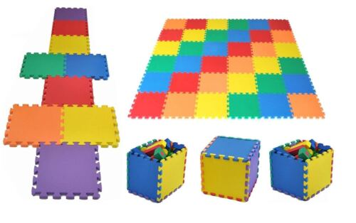10 piece Kids Eva Foam Play Mat Interlocking Soft Playmat Set Tile Floor 30x30cm