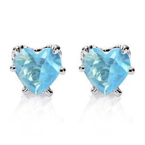 Women-Jewelry-Sale-Heart-Cut-White-Gold-Plated-Stud-Earrings