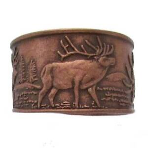 Solid-Copper-Ring-Elk-Handmade-Jewelry-Adjustable-Band-Arthritis-Pain-Relief-New