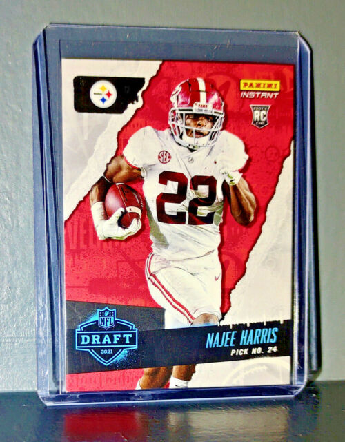 Najee Harris 2021 Panini NFL Instant Draft Night #15 Rookie Card 1 of 1592