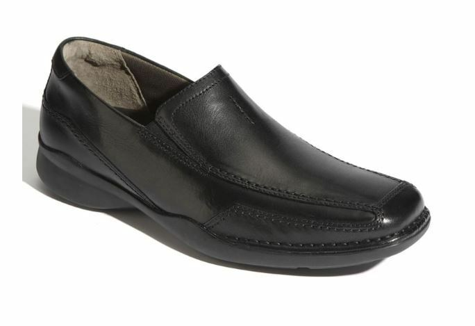 Clarks Candido Slip On Shoes - Black Leather - Size 12 M (US)