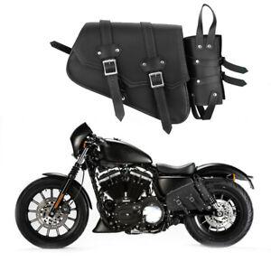 Motorbike Genuine Leather Motorcycle Saddle Bag Waterproof Pannier Side Bags