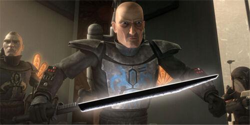 YDD Star Wars Mandalorian Darksaber Metal Silver Jedi Tarre Vizsla Lightsaber