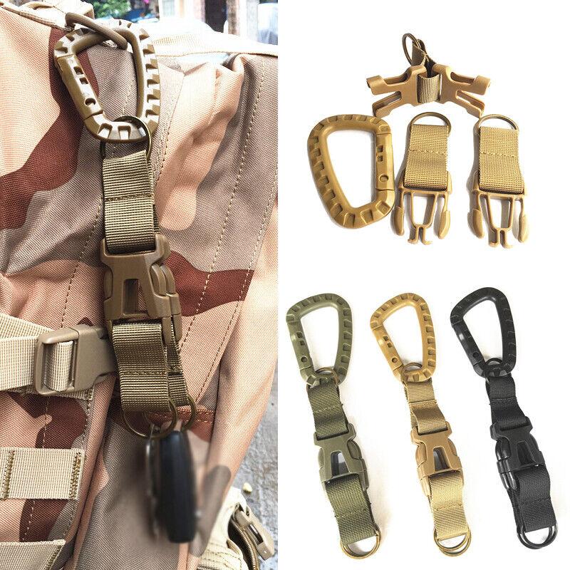 Outdoor Keychain MOLLE Webbing Belt Buckle Belt Hook Detachable Backpack Hook
