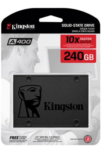 "Kingston A400 240GB 240G SSD Solid State Drive 2.5/"" SATA III 3 6Gb//s 500MB//s"
