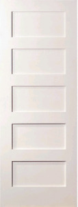 5 Panel Flat Mission Shaker Primed Stile Rail Solid Core Wood Doors Door Slabs Ebay