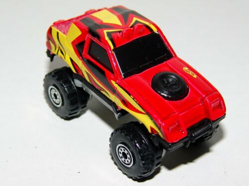 Hot Wheels Gulch Stepper 4x4 Pickup - Red with Black Windows - Malaysia 1995