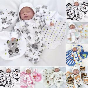 neu 5 teile strampler set baby erstausstattung paket overall 50 56 62 68 ebay. Black Bedroom Furniture Sets. Home Design Ideas