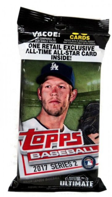 8 2017 Topps Baseball Series 2 Mlb Trading Cards 36ct Retail Fat Pack Lot