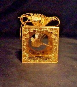 Franklin Mint Gold Present Dangling Dove Ornament ...