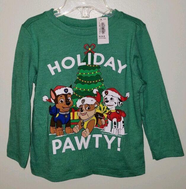 Old Navy Boys Girls 12-18 18-24 MONTHS Long Sleeve PAW PATROL Tee Shirt #321418