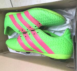Stollen Set: Fussballschuhe Adidas grün pink - ACE 16.4 FxG J - Gr 34 - OVP - Syke, Deutschland - Stollen Set: Fussballschuhe Adidas grün pink - ACE 16.4 FxG J - Gr 34 - OVP - Syke, Deutschland