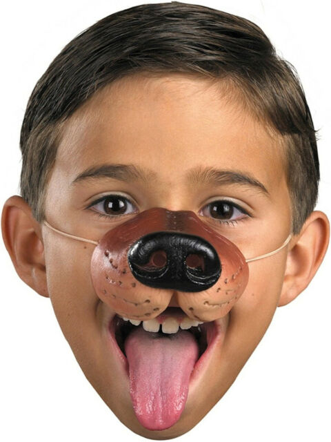 DOG NOSE Rubber Animal Costume Mask Toy Funny Joke Kid Wolf Gift Toy Elastic NEW